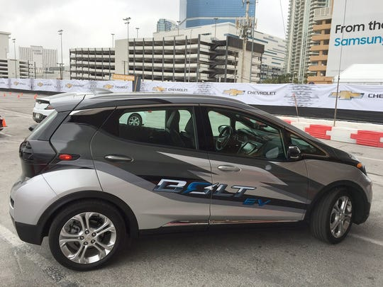 Chevrolet's new electric car, the Bolt, boasts a 200-mile range and features that deliberately make it suited to ride-sharing.