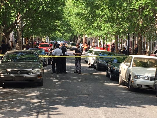 Police investigate a shooting in Wilmington's Eastside Thursday afternoon.