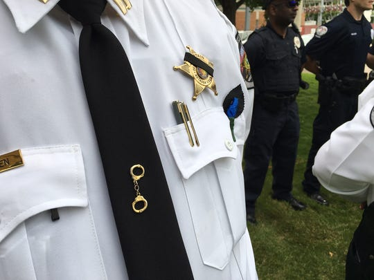 Prattville help its fallen police officers memorial Friday morning.