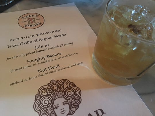 Isaac Grillo created two unique cocktails – the Naughty