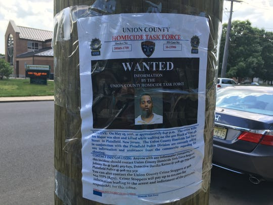 A Union County Homicide Task Force poster seeking information