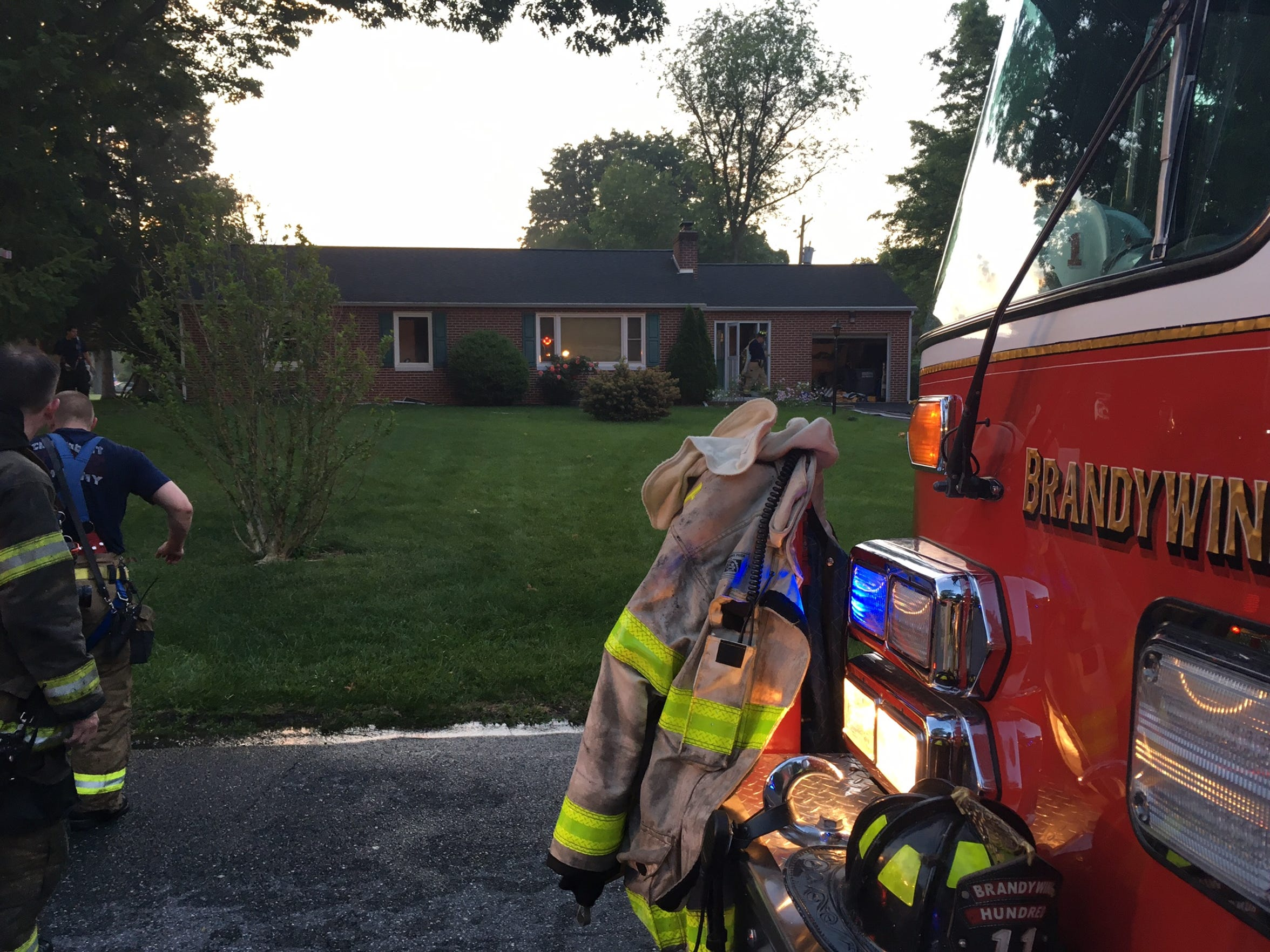One resident was injured in a house fire Wednesday morning in Brandywine Hundred.