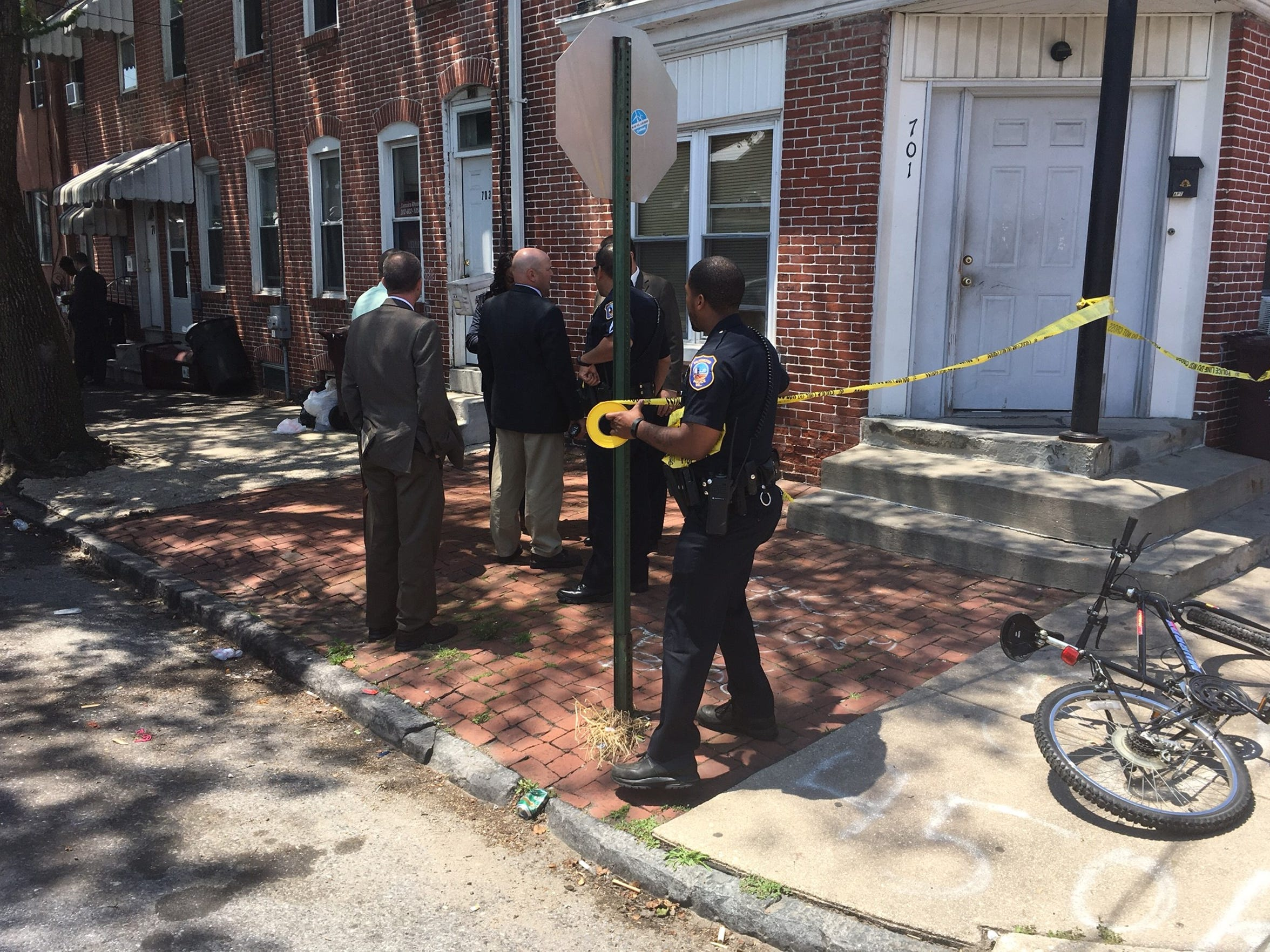 Wilmington police are investigating a shooting that left a teen injured in the 700 block of S. Van Buren St. in Wilmington on Thursday, June 2, 2016.