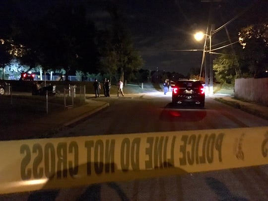 Police in Wilmington respond to a shooting in Eastlawn Park.