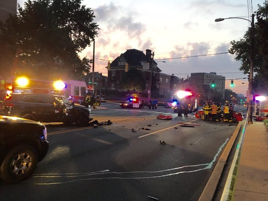 The crash left one man critically injured early Sunday morning in Wilmington. Police are still searching for the other driver.