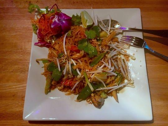Pad thai at Komoon Sushi Thai 3.