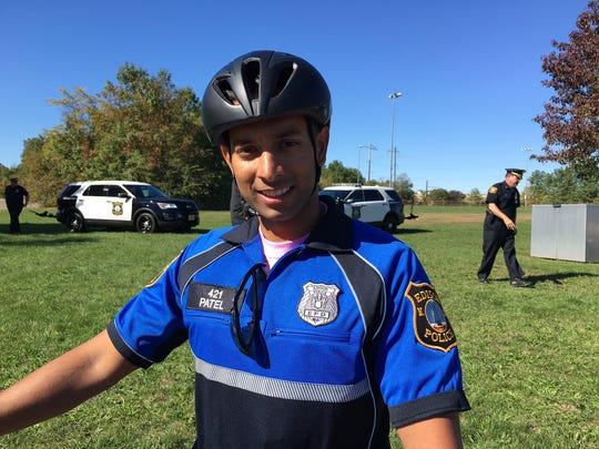 Edison Bicycle Patrol Officer Neel Patel.