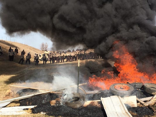 AP OIL PIPELINE PROTEST A USA ND