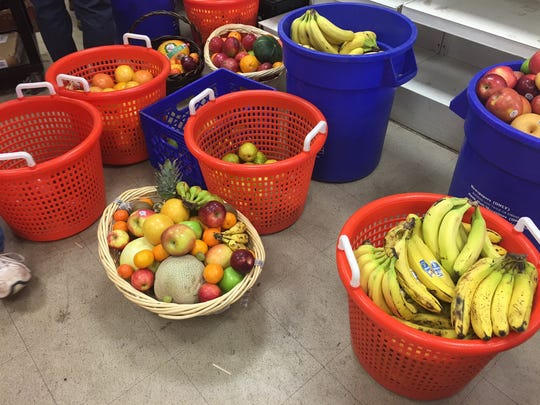 Produce donated by a local church to the Franklin Food Bank.