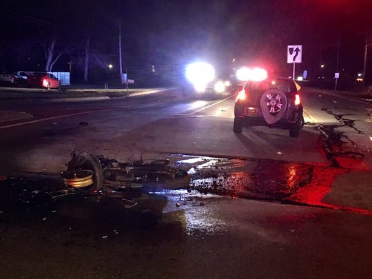 A man was seriously injured in a crash involving a motorcycle Sunday night.