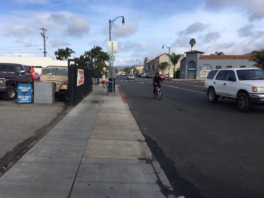 Along Ventura Avenue in west Ventura.