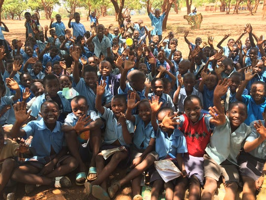 Students from the Demonstration School in Malawi were