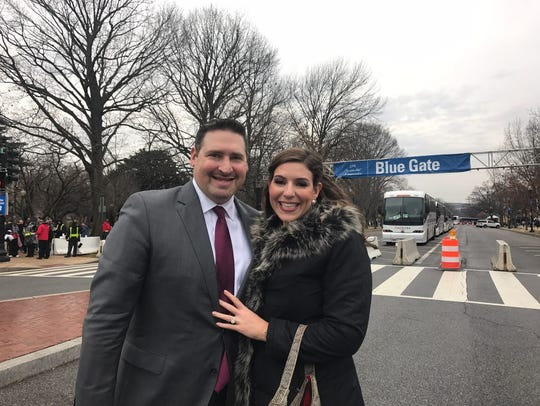 Lena Epstein and her husband Eric Medwed in the nation's