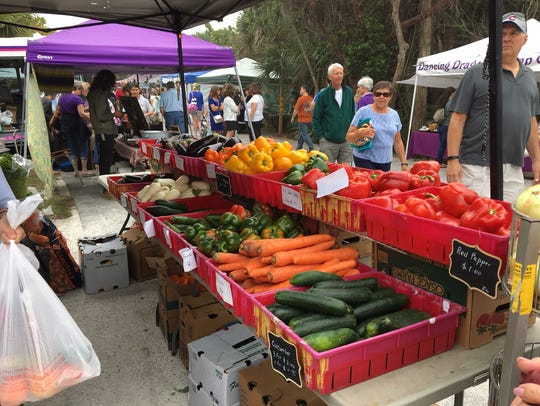 Sanibel's farmers markets operates from October through May.