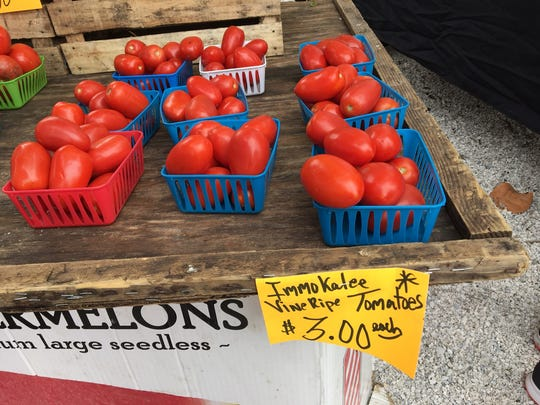 Locally-grown produce resonates with buyers at farmers markets.
