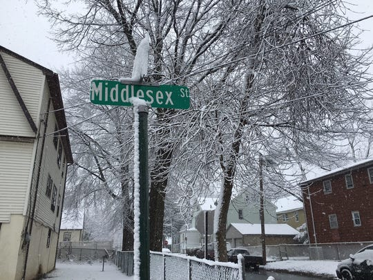 Middlesex Street sign in Linden.