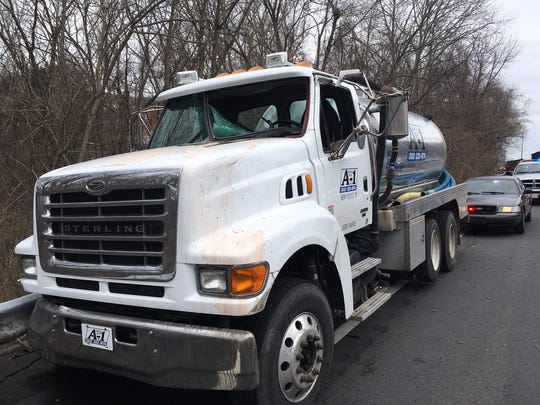 A deer jumped through the window of this truck in Hockessin two years ago, state police reported at the time.