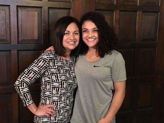 Wanda Hernandez and her daughter, Olympic gymnast Laurie Hernandez