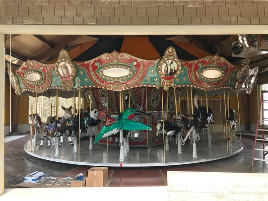 Carousel at Mesker Park Zoo nearing completion