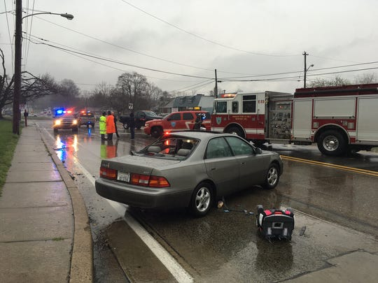 A 24-year-old woman was seriously injured Thursday in a two-vehicle crash at West Newport Pike and Tolliver Drive, near Newport, paramedics said.