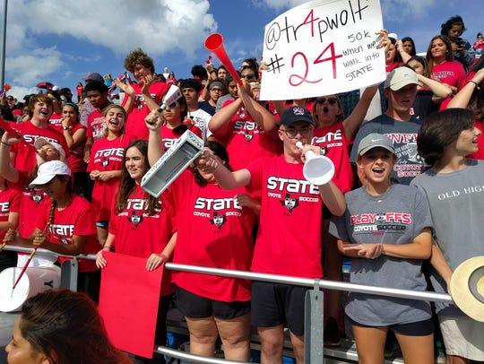 Fans of the Wichita Falls High School boys soccer team