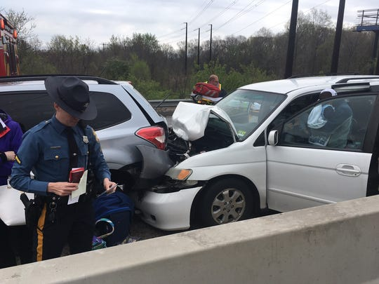 Delaware State Police are investigating a multi-vehicle crash on I-295.