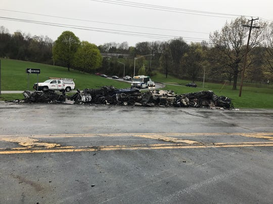 A tractor trailer rollover in the Town of Lloyd caused a portion of Route 9W to be closed, according to state police from the Highland barracks.