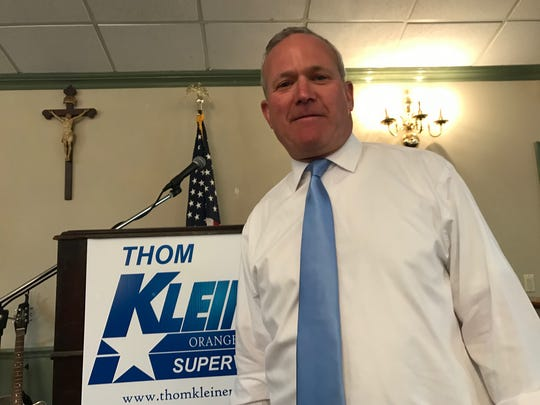 Thom Kleiner announced Sunday that he will run as the Democratic candidate in November for Orangetown supervisor.