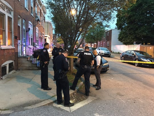 Wilmington police investigate a shooting that left a male victim injured Monday night.