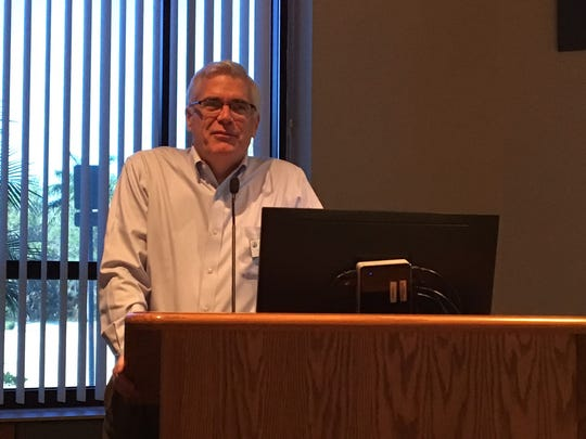 Richard LeBer, Harry Chapin Food Bank President and CEO, talks at the 2017 Hunger Summit at Florida SouthWestern College.