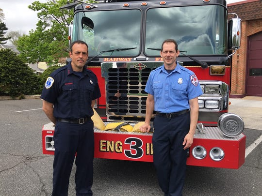 Rahway Firefighter Andrew Shumway and Fire Capt. Theodore