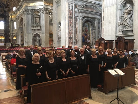 """Join the Voices of Naples, who sang in St. Peter's Basilica, Rome, last summer for their 15th annual singalong """"Messiah"""" Sunday, Nov. 19."""