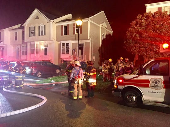 A townhome fire was reported shortly after 3 a.m., in the 400 block of Feather Drive in the Wellington Woods community, near Bear.