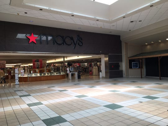 The space outside Macy's in Muncie Mall, where a beer kiosk has been proposed.