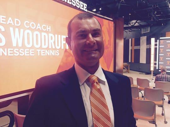 New Tennessee men's tennis coach Chris Woodruff is