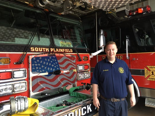 South Plainfield Fire Lt. Andrew Kolenski is receiving a valor award from the 200 Club of Middlesex County for rescuing a man found facedown in the water at Spring Lake Park.