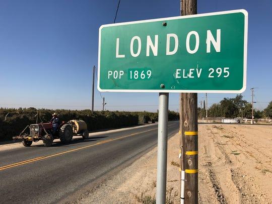 Police investigate homicide in London, Tulare County.