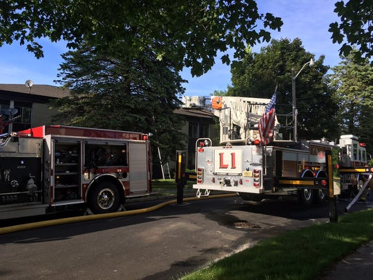 Manitowoc firefighters respond to a fire at 314 Riverview