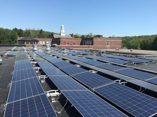 Somers Middle School was the first school in the state to turn on its solar panels as part of Gov. Andrew Cuomo's K-Solar program.