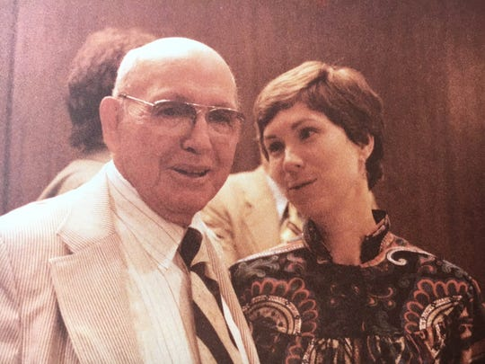 Jean Franklin, right, with her dad, John Bettis.