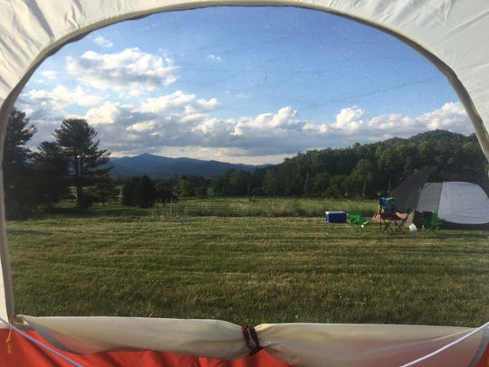 A birthday campout in Pisgah Forest, North Carolina