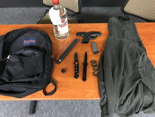 Items seized in case