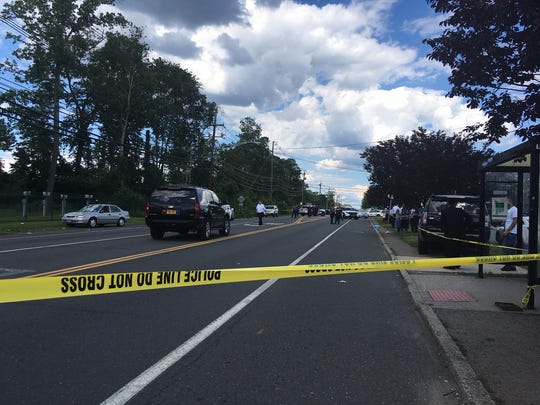 The scene where a road rage driver struck four people on Route 59 in Monsey on June 26, 2017. A 3-month-old boy later died. The driver, Albert Gomez, has pleaded guilty to manslaughter.