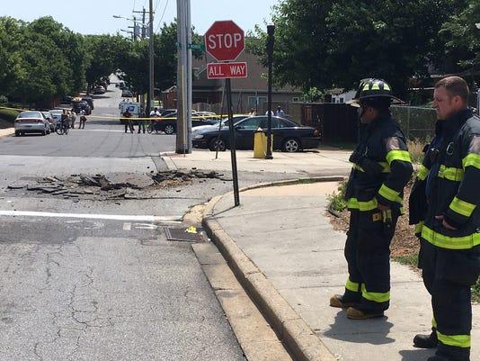 Manhole collapse