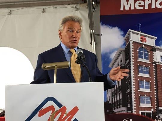 George Capodagli at the groundbreaking on June 29,