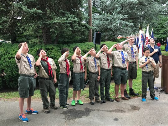 Members of Boy Scout Troop 17, St. Rose of Lima Church,