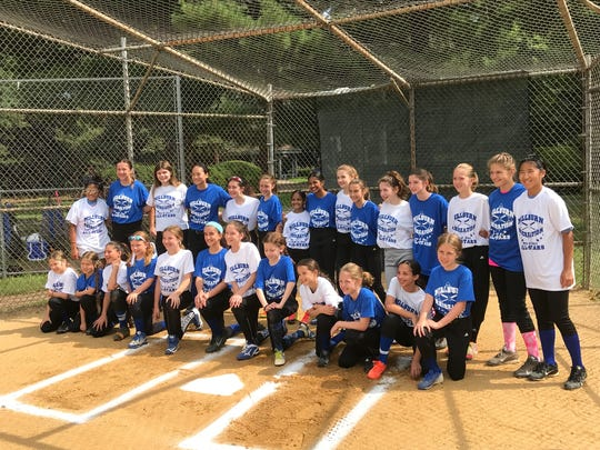 Players in the annual All Star Girls softball game