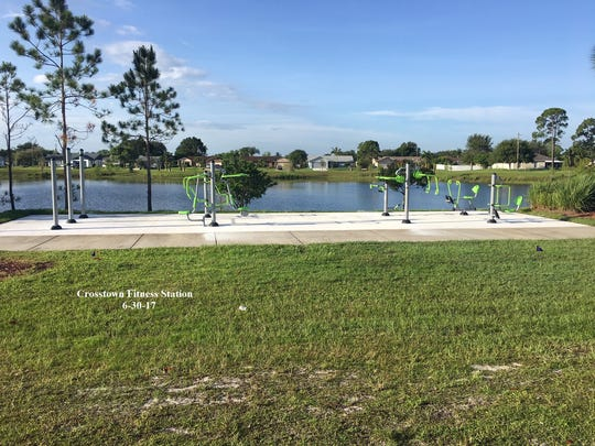 This fitness station is now open near the lake at the southeast corner of Bayshore Boulevard and Crosstown Parkway.