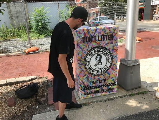 Artist Larry Ciarallo of Hoboken transformed a utility