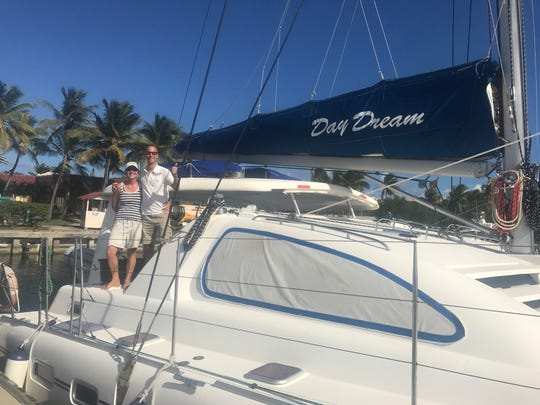 The catamaran Day Dream sails to numerous islands in the BVI.